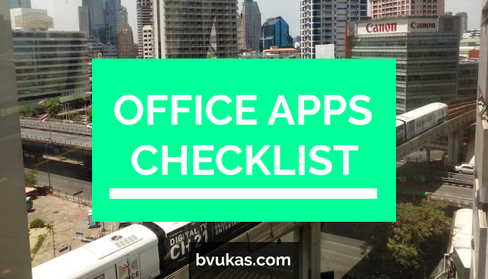 Featured: Office Apps Checklist