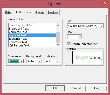 How to enable syntax highlighting in VBA Editor – Bernard